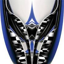 Custom Adrenaline Rush Blue Graphics
