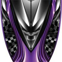 Custom Burnout Purple Graphics