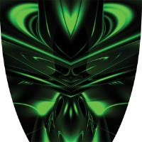 Custom Cyber Ghost Green Graphics