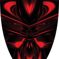 Custom Cyber Ghost Red Graphics