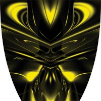 Custom Cyber Ghost Yellow Graphics