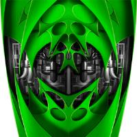 Custom Jet Green Graphics