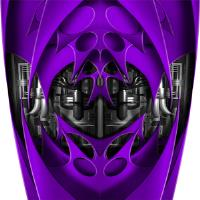 Custom Jet Purple Graphics