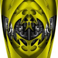 Custom Jet Yellow Graphics