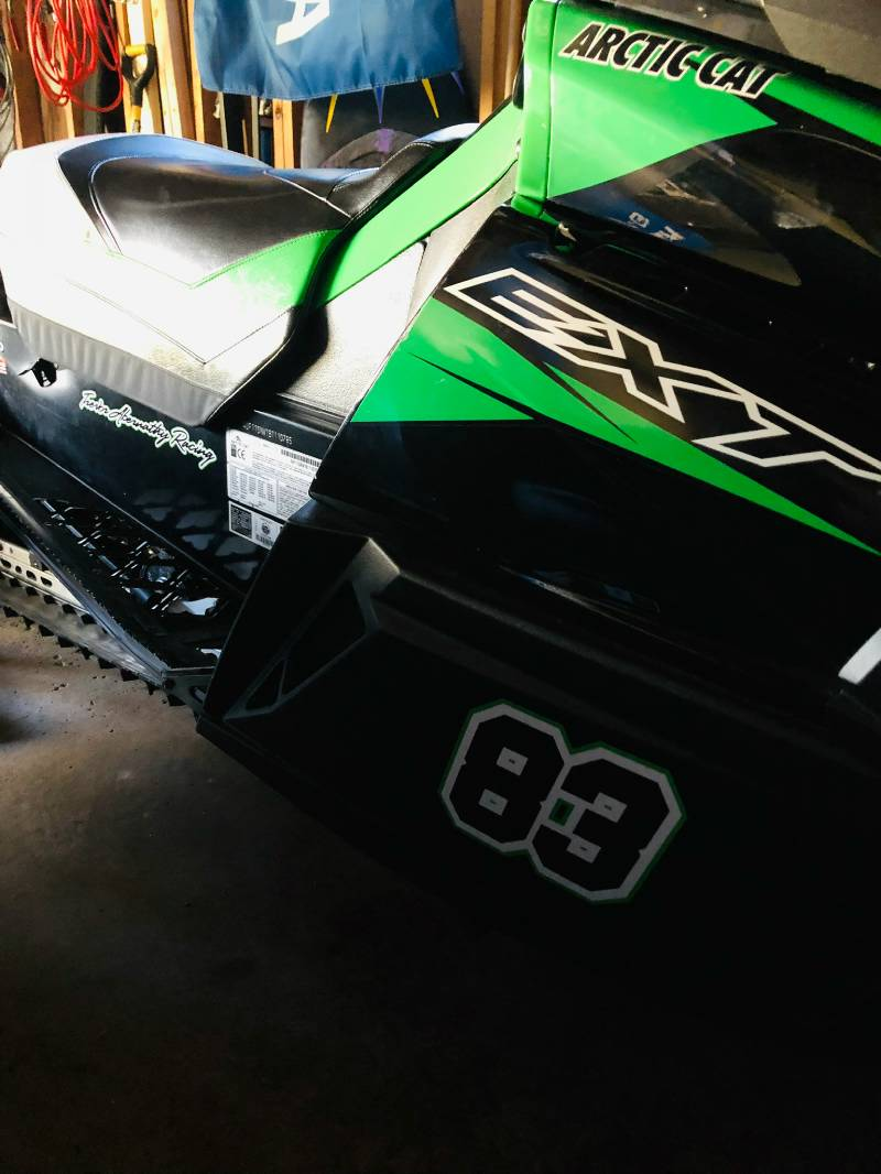 2011 Arctic Cat Z1 Turbo Ext Snowmobile Lettering From