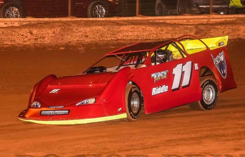 2017 TNT chassis Chevrolet Corvette  Dirt Late Model  Lettering from james r, SC