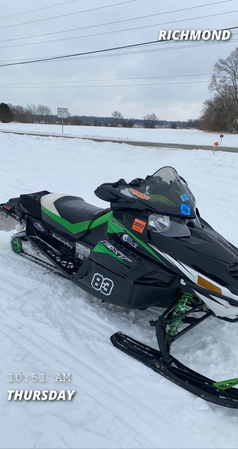 "2011 Arctic Cat Z1 Turbo EXT 144"" Snowmobile  Lettering from Trevor A, WI"