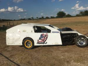 Modified race car Lettering from David G, TX