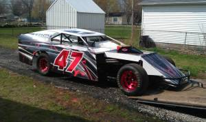 Awesome dirt modified race wrap scheme
